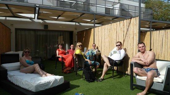 Rich Luxury Suites :                   Full patio