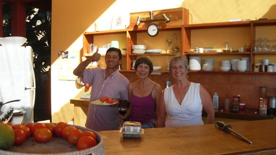 Costa Rica Yoga Spa:                   Darin's Momma, my Momsi, and a most excellent chef