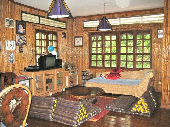 Les Manguiers: Wohnzimmer im Haupthaus