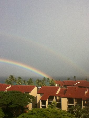 Aston Kaanapali Shores: Double rainbow