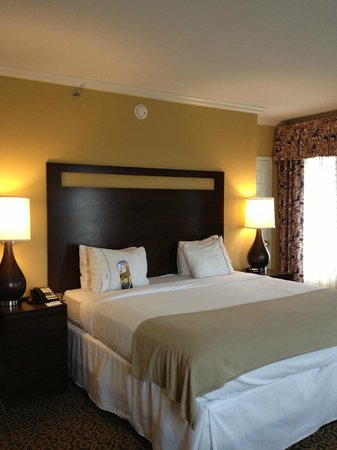 Holiday Inn Express Savannah-Historic District: Comfortable bed