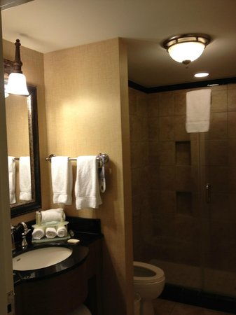 Holiday Inn Express Savannah - Historic District: Nice bathroom, big shower