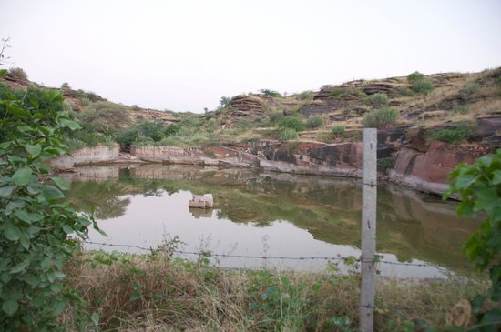 Arna Jharna: The Desert Museum of Rajasthan: Small Pond where all the rain water is collected and feeds the animals and humans around
