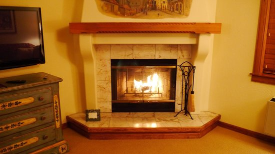 Enzian Inn:                   fireplace