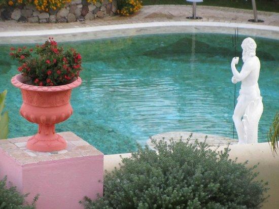 Hotel Tritone : King Neptune guards the Tritone pool