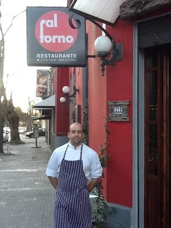 Al Forno: federico the owner and chef welcomes you