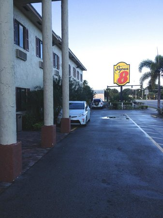 Super 8 Pompano Beach:                   At night from the outside it looked OK
