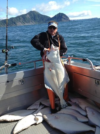 Alaskan Fishing Adventures Accommodation: Fishing for halibut is awe-inspiring
