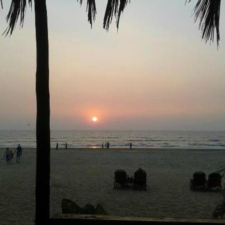 Baga Beach sunset view from the Buckingham Shack - the only shack to be!