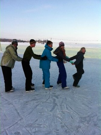 Ice Skating on Leech Lake at Chase on the Lake