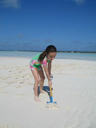 Staniel Cay Yacht Club: One of the many sandbars we spent the day on