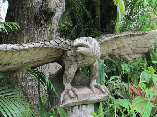 Country Country Beach Cottages: Love the carvings on the grounds