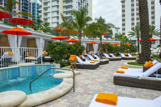 Loews Miami Beach Hotel Soak Cabanas Daybeds