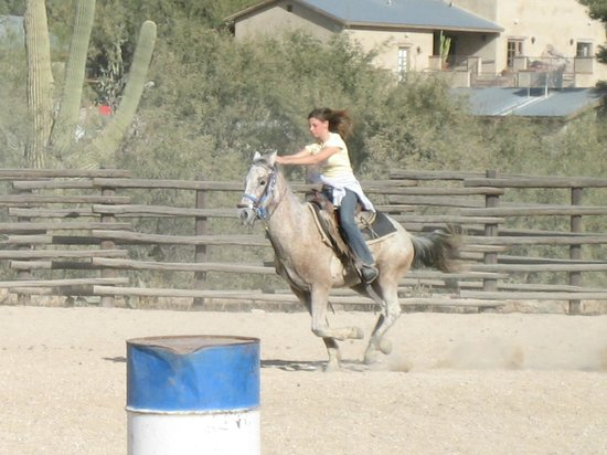Tanque Verde Ranch:                   ride 'em cowgirl!
