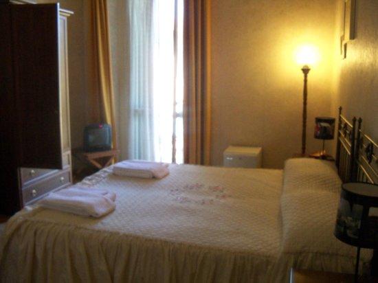 Hotel La Pergola:                   Im standing at Bathroom Door..
