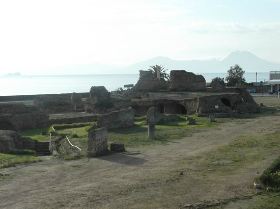 Ancient Roman Baths:                   The site overlooks the see!
