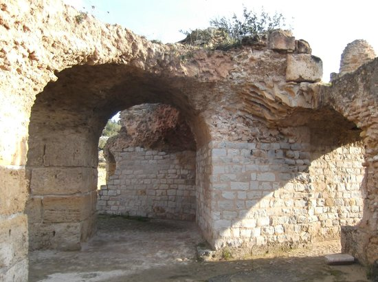 Ancient Roman Baths:                   One of the ruined arches