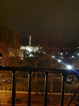 The Hay-Adams:                   view from room