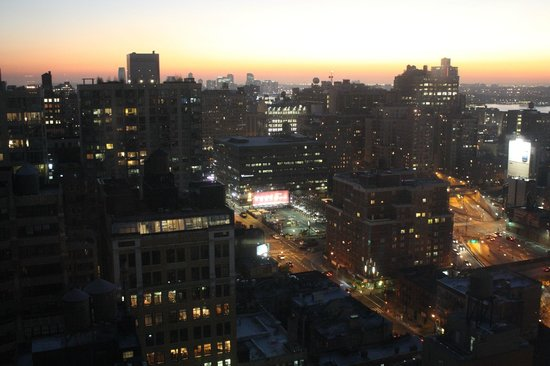 Candlewood Suites New York City Times Square: sunset from room