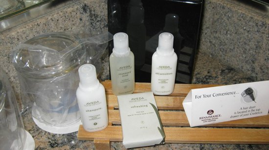 Renaissance Los Angeles Airport Hotel: Aveda Products in Bathroom