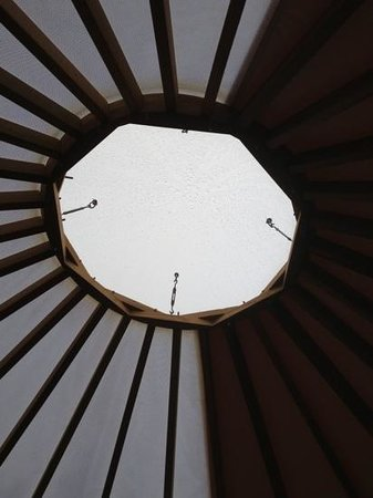 Patagonia Camp: skylight to yurt