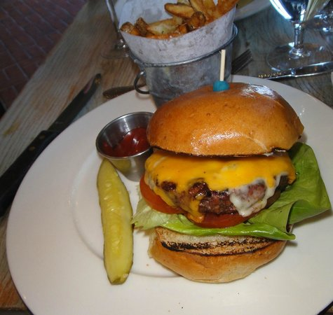 White Dog Cafe - Wayne: Double Cheddar Burger at White Dog Cafe