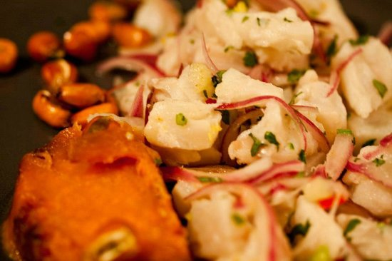 Tito's: Ceviche: raw cod, marinated in lemon juice red onions and fresh chilli