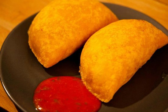Tito's: Empanadas Latinas: Deep-fried meat pasty served with chilli sauce