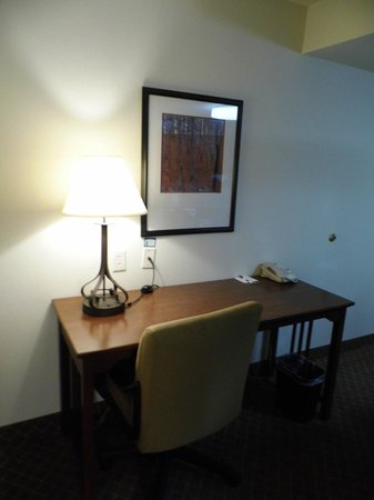 Staybridge Suites Indianapolis-Airport:                   Large Desk and Great Lighting