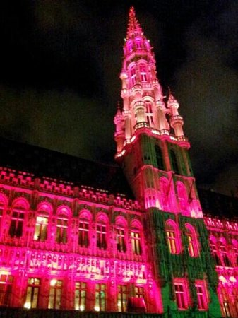 Hotel Amigo: The Grand Place- fantastic Christmas Light Show