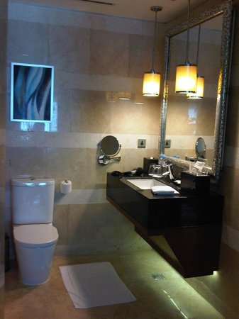 Manila Marriott Hotel: Sink and toilet