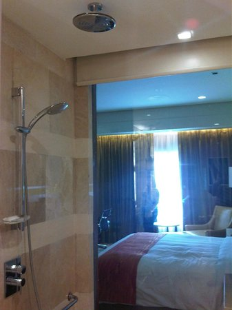 Manila Marriott Hotel: Shower and a view of the room