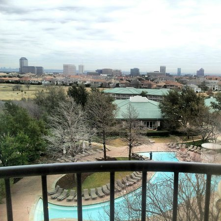 Four Seasons Resort and Club Dallas at Las Colinas:                   View from my room on the 4th floor.