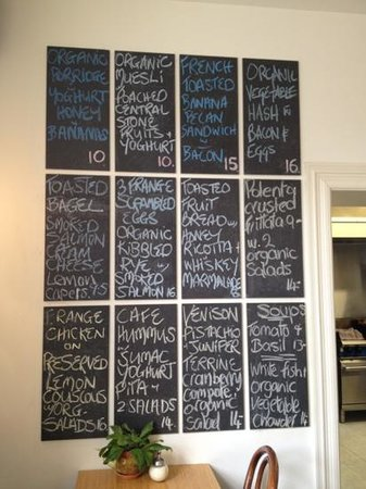 The Good Earth Cafe: That day's menu