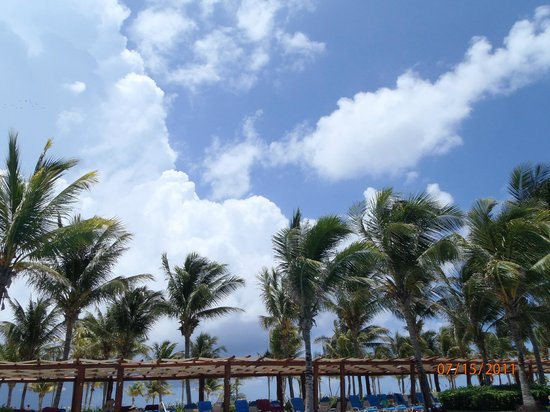 Barcelo Maya Tropical:                   Beautiful clear skies