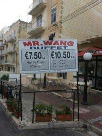 Mr Wangs misleading sign