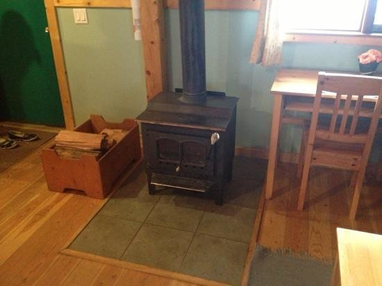 Timber Inn: wood burning stove