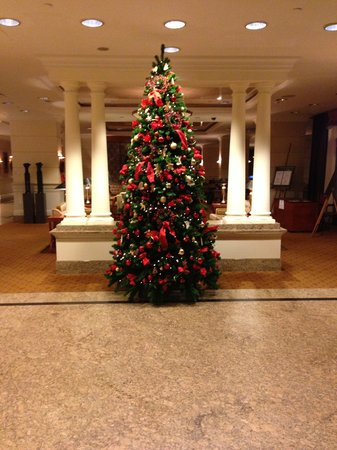 InterContinental Budapest:                   Christmas decorations early December