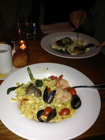 Basta:                   Frutti di Mare with homemade fettuccini, delicious!