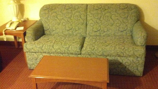 Embassy Suites by Hilton Columbus Dublin:                   that 70's show sofa