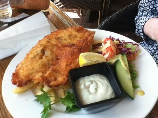 Banjo's Bar & Bistro: crumbed barra - very filling!