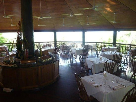 Thala Beach Nature Reserve:                   Dining room with gorgeous views of the ocean and surrounding forrest.
