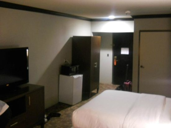 BLVD Hotel & Suites: poorly lit room