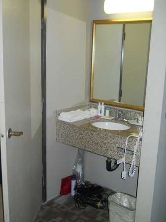 BLVD Hotel & Suites: sink outside of bathroom