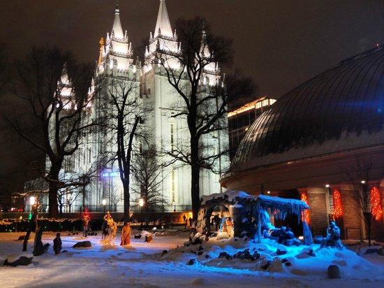 Salt Lake Plaza Hotel: el temple square en navidad es hermoso