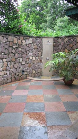 Vivanta by Taj - Sawai Madhopur Lodge:                   Open air shower area