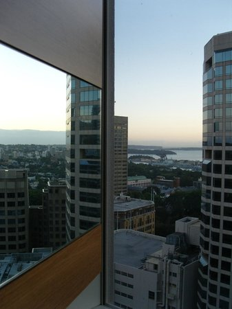 Hilton Sydney: View from Relaxation Suite - Pitt St end