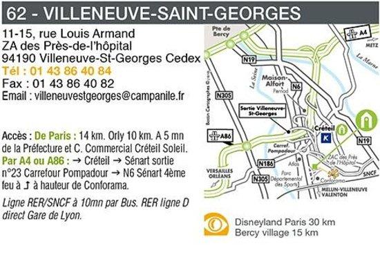 Campanile Villeneuve St Georges : Plan d'ccès