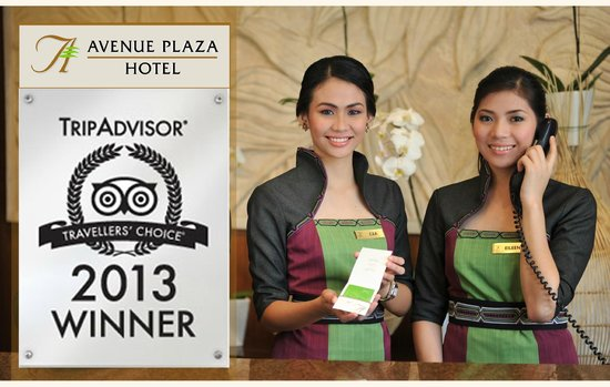 The Avenue Plaza Hotel: Avenue Plaza Hotel won the Travellers' Choice Award for Top Hotel Service in the Philippines