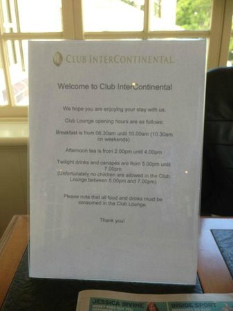 InterContinental Sanctuary Cove Resort:                   the less than helpful Rules at the club. No kids in the evening and no other o